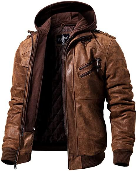 FLAVOR Men's Biker Jacket
