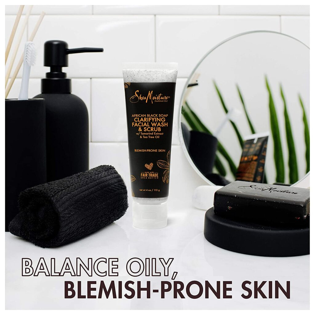 Sheamoisture Facial Wash and Scrub