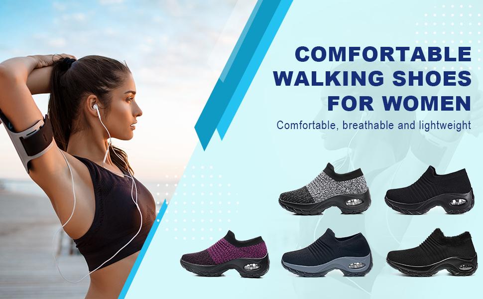Women's Walking Shoes Sock Sneakers