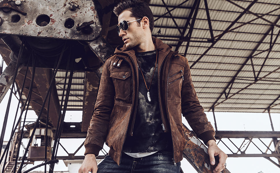 Leather jackets for men's in fashion