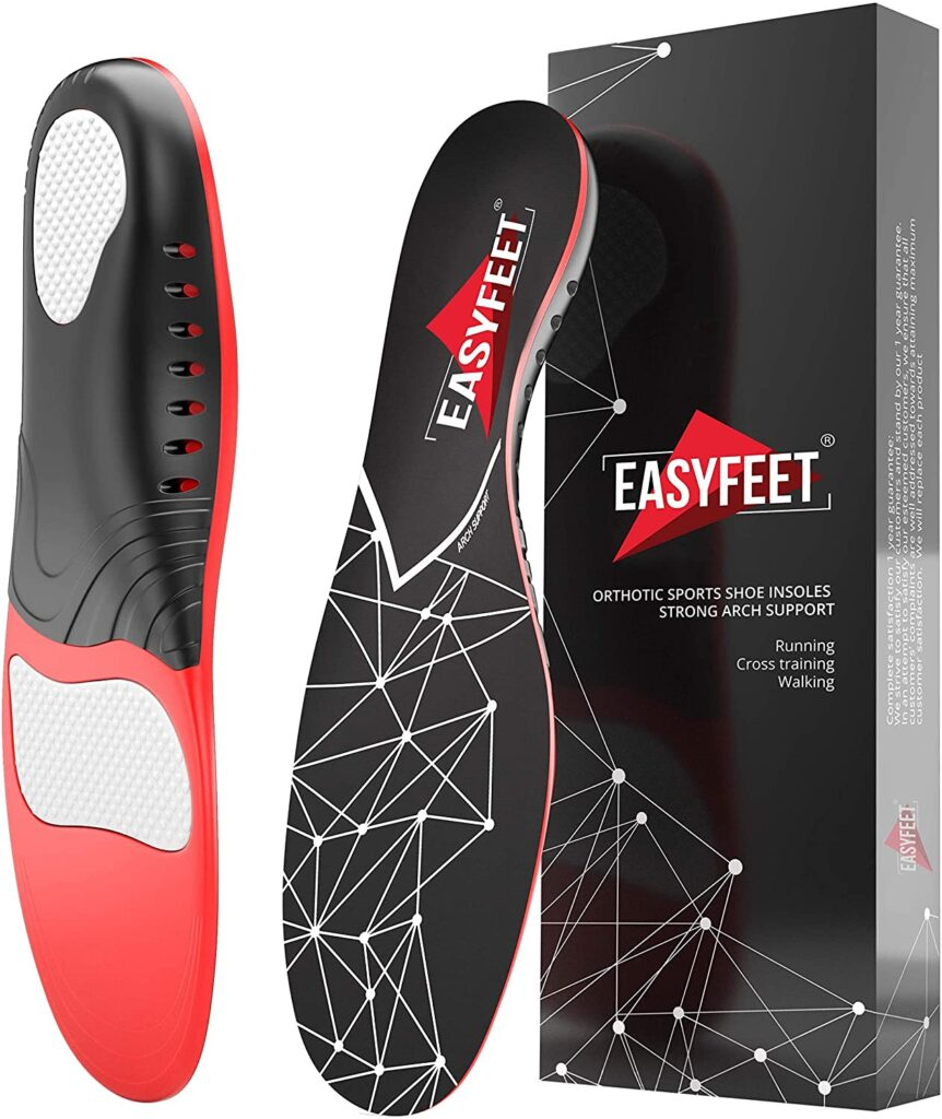 EasyFeet Store Plantar Fasciitis Arch Support Insoles for Men and Women