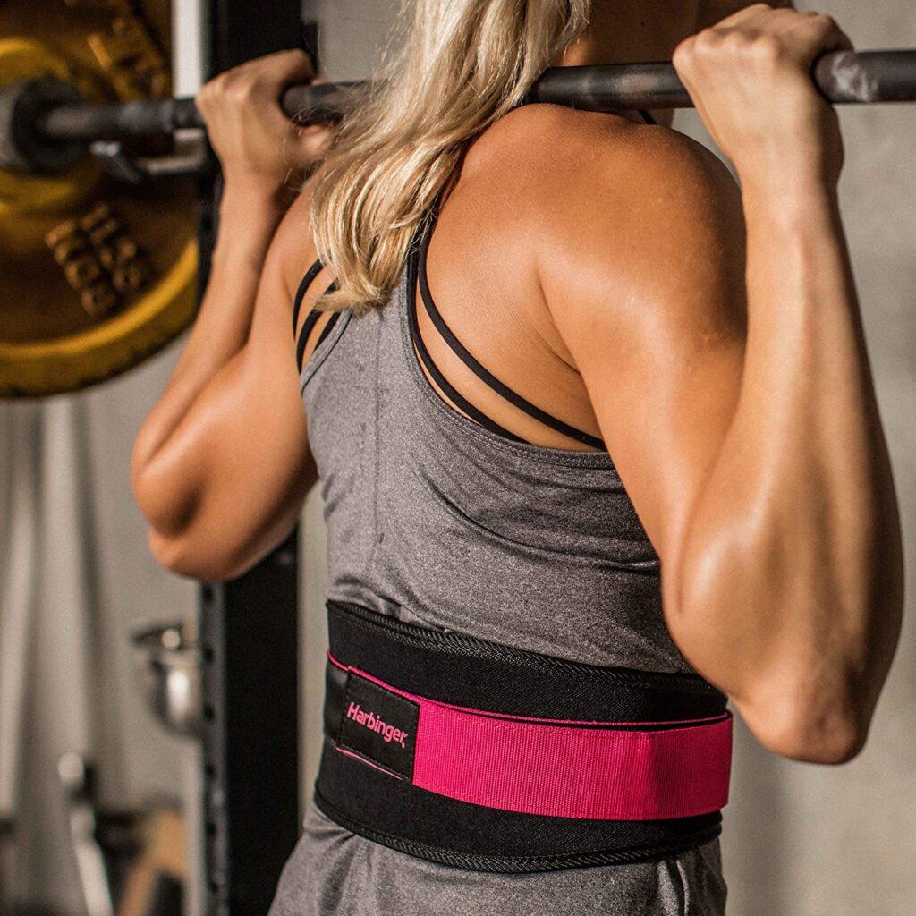 Flexible Ultralight Foam Core: Harbinger Nylon Weightlifting Belt for Women