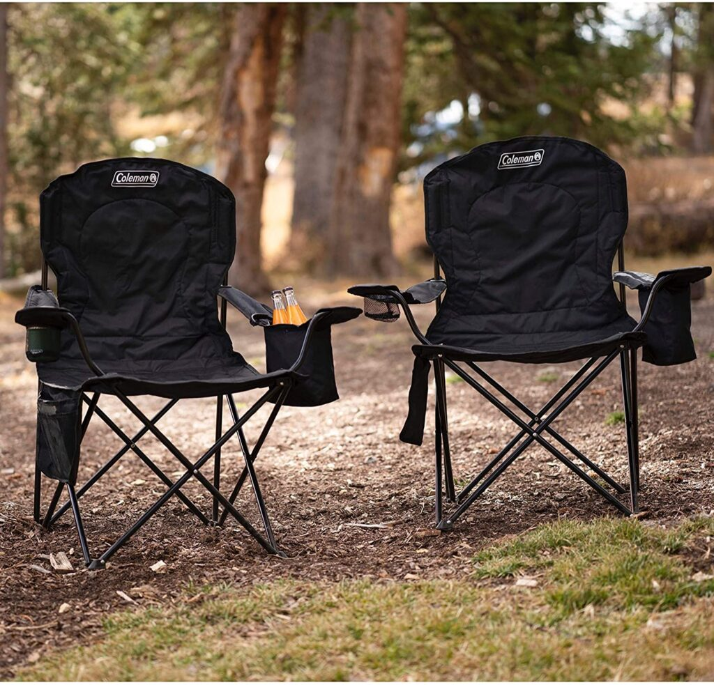 High back camping chair- Coleman Camping Chair