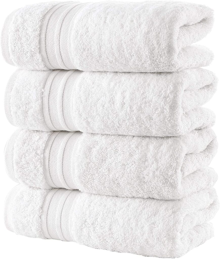 HAMMAM Linen's White Hand Towels