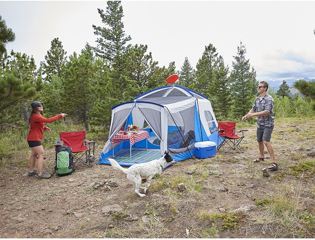 3. 8 person tent with porch- Wenzel Klondike Tent