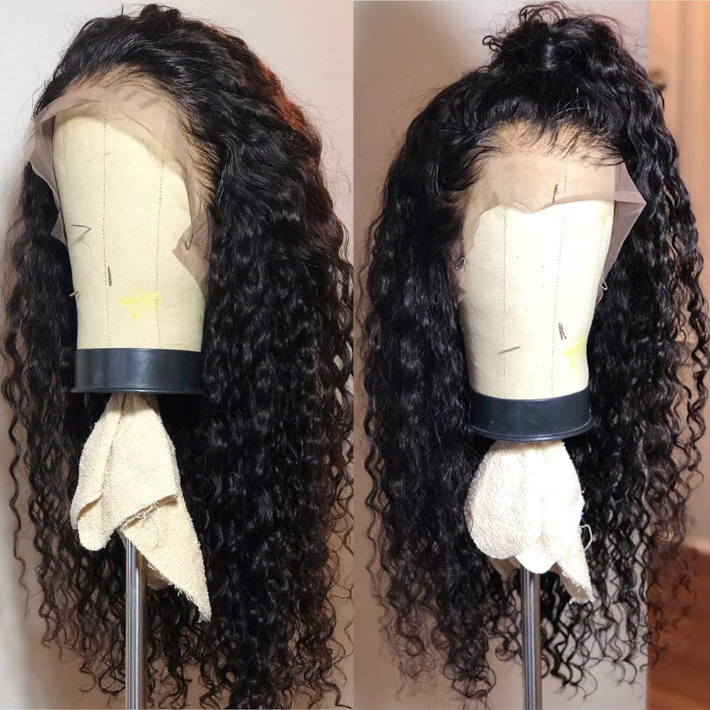 Curly wig for natural hair- Fureya Long Loose Curly Glueless Lace Front Wig