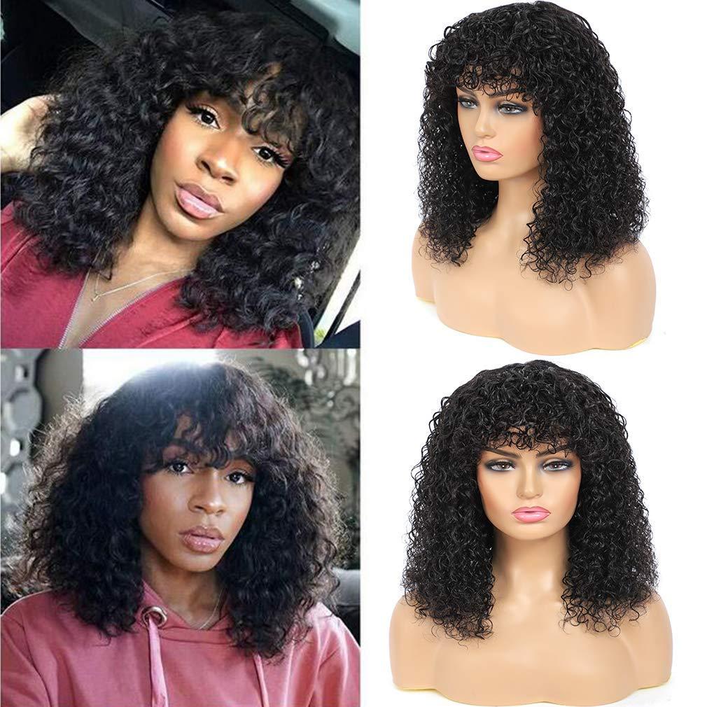 Curly wig human hair
