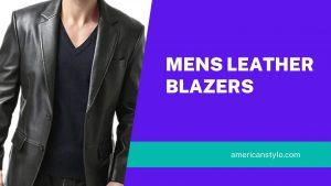 mens leather blazzer