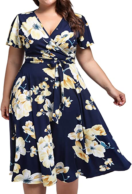 Kissmay Summer dresses that hide belly bulge